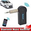Novo sem fio bluetooth car kit adaptador receptor de música streaming de áudio do carro aux a2dp handsfree com microfone para o telefone mp3 3.5mm
