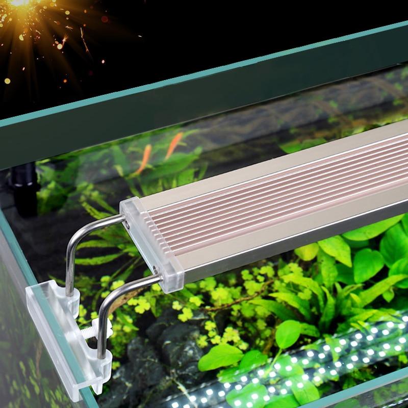 SUNSUN ADE Aquarium LED Lighting Lamp Aquatic Plant Fish Tank LED Light Aquarium Light 5-24W 220V Ultra Slim Grow Lighting Lampe