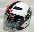 Envío gratis LS2 genuino medio casco de la motocicleta medio casco casco de moto OF569 / blanco bloom