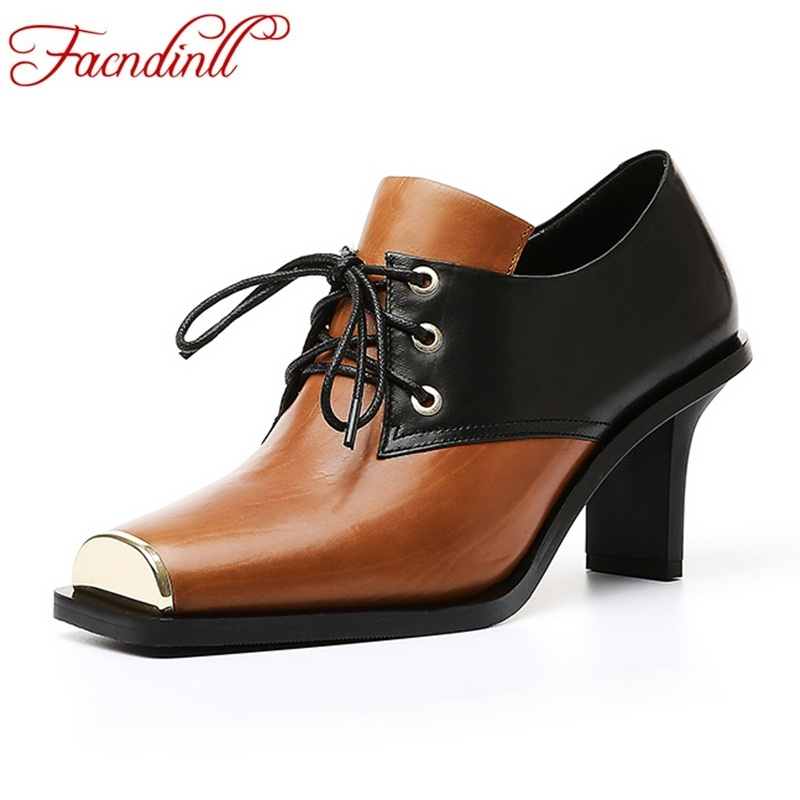 FACNDINLL classics genuine leather women pumps new fashion sexy high heels lace up shoes woman dress party office ladies pumps retro bin drawer pull dresser knobs handles shell cup kitchen cabinet handles door handle black silver furniture hardware