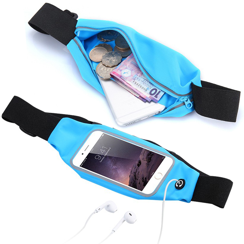 Universal Sport Accessories Gym Waterproof  Waist Bag Belt Pouch Mobile Phone Case For iPhone 6 6s 7 Plus 5 5s 5c SE 4 4s Cover armband for iphone 6