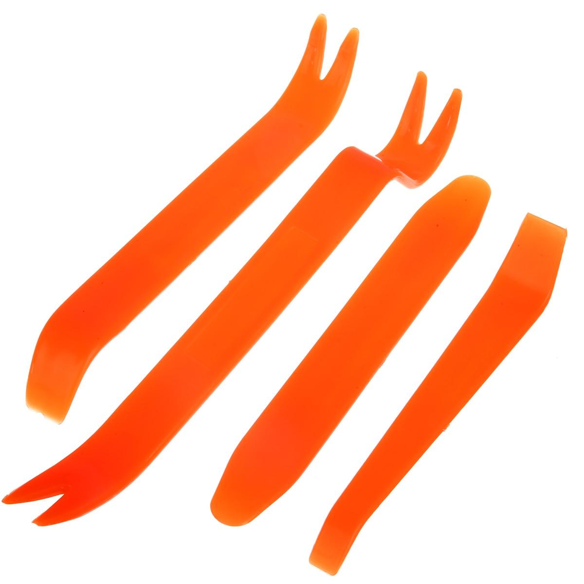 4pcs Car Door Clip Panel Removal Tools Audio Video Dashboard Dismantle Kits Installer Pry Tool Plastic Trim Panel Repair Tools