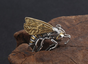 Image 5 - Gerçek 925 gümüş arı kolye kolye 925 ayar meşgul arı kolye kolye Vintage Bohemia kolye