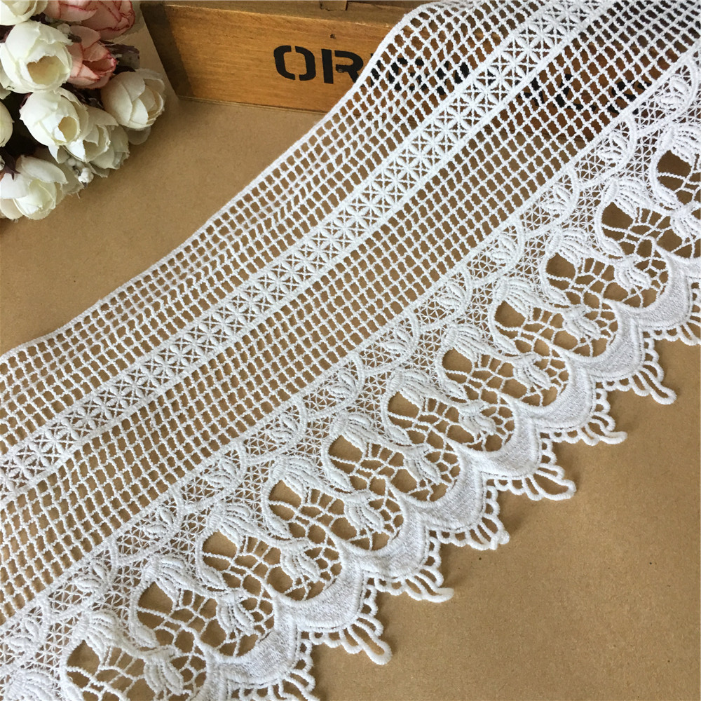 16fd55bd9bcb6 Ivory French Chantilly Lace Fabric Graceful Floral Wedding Fabric ...