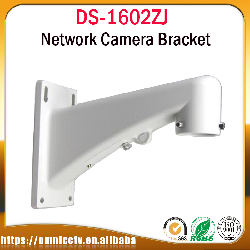 Outdoor Indoor Camera Bracket DS-1602ZJ Wall Mount Aluminum Alloy For Speed Dome PTZ Camera wall mount bracket CCTV Accessory cctv camera housing aluminum alloy for bullet box camera with bracket for extreme cold or warm outdoor built in heater and fan