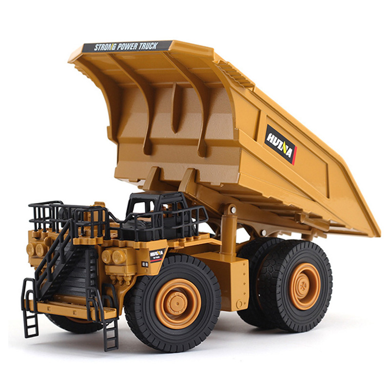 1:40 Wheel Mine Transport Truck Diecast Toys Engineering Vehicle Car Model Toys Kid Boy Toys Gifts Collection Juguetes