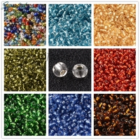 Silver Lined 2/3/4mm 8/0 6/0 12/0 Glass Small Little Seed Beads for Jewelry DIY Making Round Hole Round