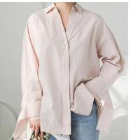 2018 Spring Sleeve Cuffs Bow Cardigan Solid Color Loose V Neck Long Paragraph Pregnant Women Shirt