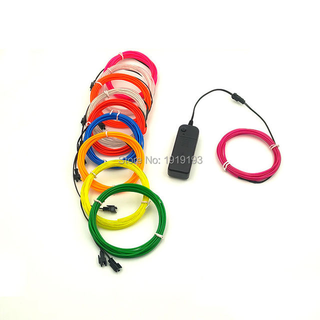 NEUE 10 Meter 2,3mm 10 Farben Flexible LED Neon Licht EL Draht Für ...