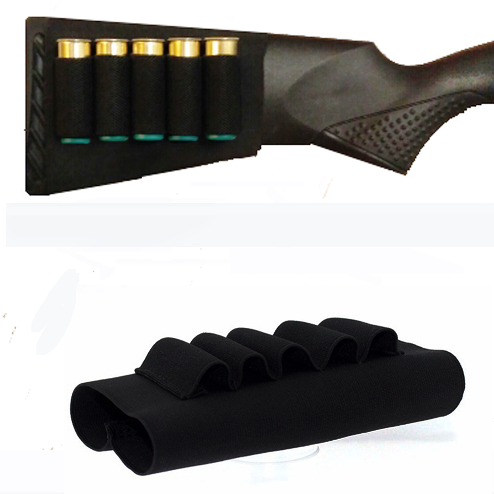 Molle kantung taktikal nilon Shotgun Cartridge Airsoft Holster Memburu 5 Shotgun Shell Belt Gauge Pemegang Ammo Tentera
