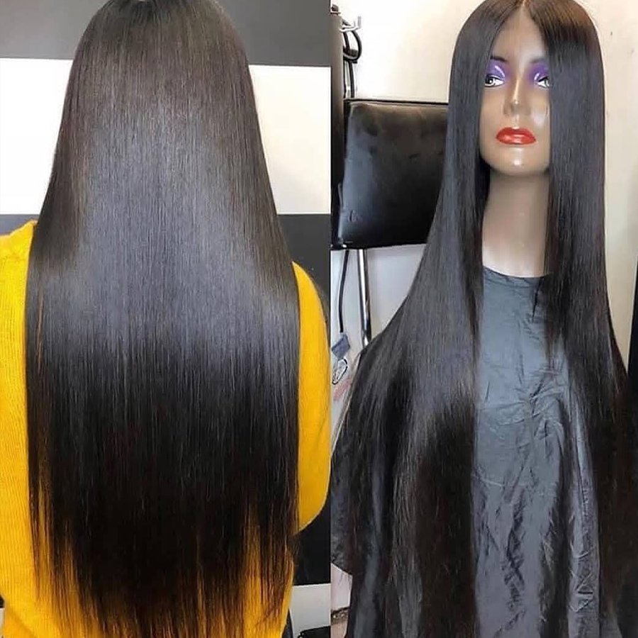 RXY 13x6 Lace Front Human Hair Wigs For Black Women Brazilian Straight Human Hair Wigs Pre Plucked 13x4 Remy Lace Front Wig