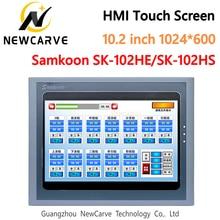 Samkoon SK 102HE SK 102HS HMI מגע מסך חדש 10.2 אינץ 1024*600 אדם מכונה ממשק Newcarve