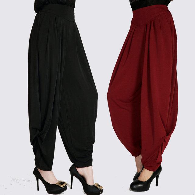 2017 verano nueva Moda casual femenina de las mujeres señoras de la marca más el tamaño de cintura Elástica pantalones harén pantalones ropa ropa