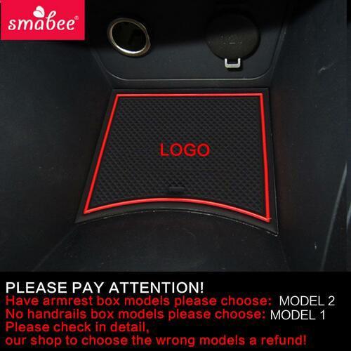 Smabee Non-Slip Gate Slot Cup Mat For Hyundai Solaris 2011-2015 Interior Accessories Anti-Slip Pad Rubber Coaster Cup Holder