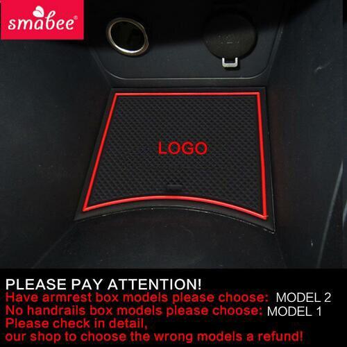 Smabee Porta slot pad Per Hyundai Solaris 2011-2015 Porta Scanalatura Mat Automotive interni antiscivolo stuoie e polvere mat