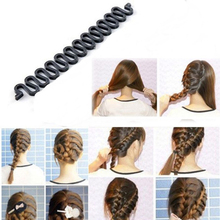 1Pcs Fashion Hair Braiding Braider Tool Roller With Magic