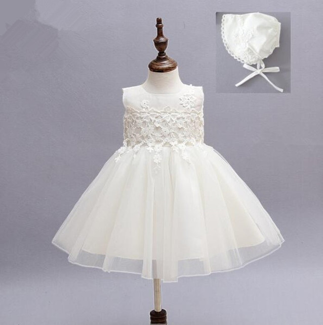 349b75bba88e Baby Girl Pageant Wedding Dresses With Hat Infant Princess Little ...