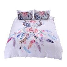 ดอกไม้ที่มีสีสัน Dreamcatcher ชุดเครื่องนอน Hipster Bohemian สไตล์เตียงเสื้อผ้าแผ่นผู้ใหญ่ Queen เตียงแผ่น