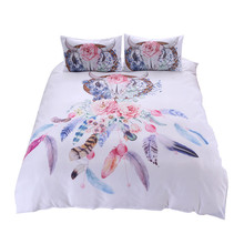 Floral Colorful Dreamcatcher Bedding Set Hipster Bohemian Style Bed Clothes bed sheets cover adult queen sheet