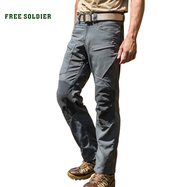 a3989261ffb1 FREE SOLDIER Outdoor sports tactical pants camping hiking scratch resistant