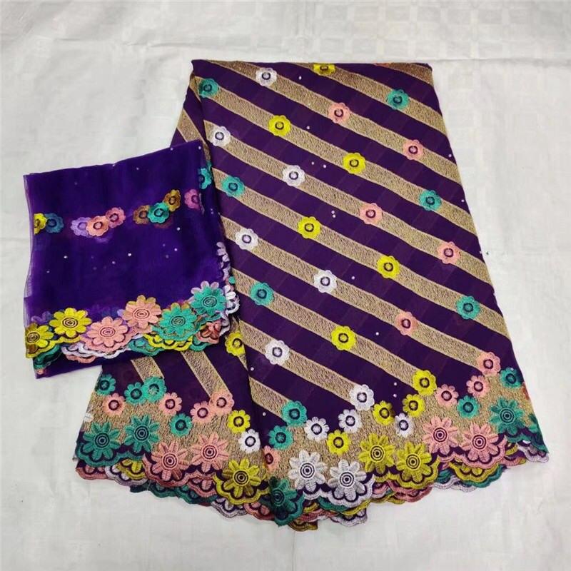 2019 violet africain suisse coton dentelle tissu broderie suisse Voile dentelle tissu avec français suisse dentelle en Switzerland-LY30