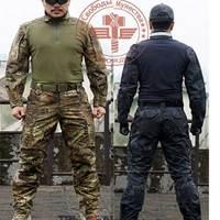2pcs Tactical Combat Uniform Rattlesnake Camo SEAL Set Shirt + Pants Krypetek Frog Uniforms Military Training Suits Jacket