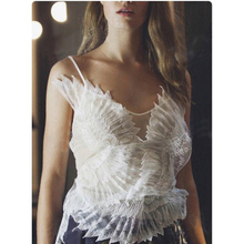HIGH QUALITY Newest Fashion Runway 2017 Designer Camis Women's Gauze Patchwork Wing Embroidery Camis Top