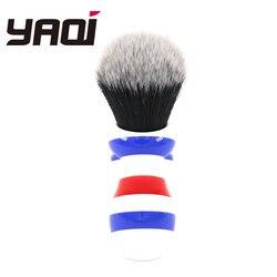 Yaqi nuevo estilo de poste de barbero 24mm esmoquin nudo cepillo de afeitar