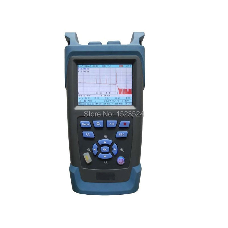 Monomodale 1310/1550nm 32/30dB Costruito in VFL Touch Screen Optical Time Domain Reflectometer In Fibra Ottica OTDRMonomodale 1310/1550nm 32/30dB Costruito in VFL Touch Screen Optical Time Domain Reflectometer In Fibra Ottica OTDR