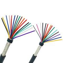 22AWG 20AWG 18AWG 10/12/14/16/20 cores Afgeschermde kabel 5meter zuiver koper RVVP afgeschermde draad controle kabel UL2547 signaal draad