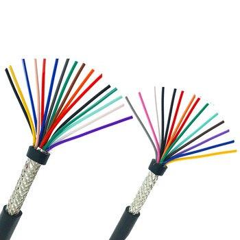 5 meter 26AWG 24AWG 10/12/14/16/20 cores Abgeschirmtes kabel 5 meter reinem kupfer RVVP abgeschirmt draht control kabel UL2547 signal draht