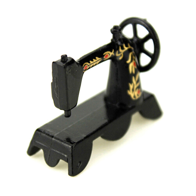 1/12 Dollhouse Black Sewing Machine Furniture Miniatures Accessories Kids Toys Gift