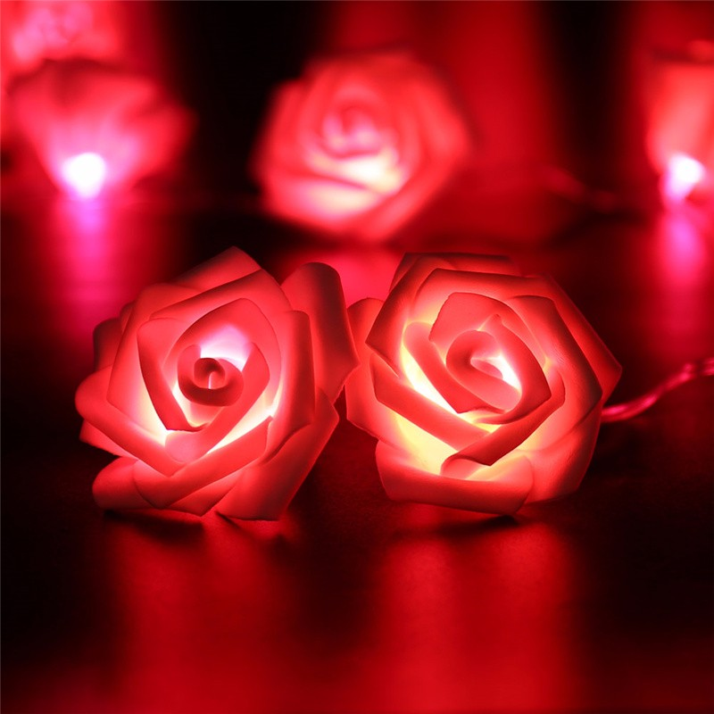 20 LED Novelty Rose Flower Fairy Strin (2)