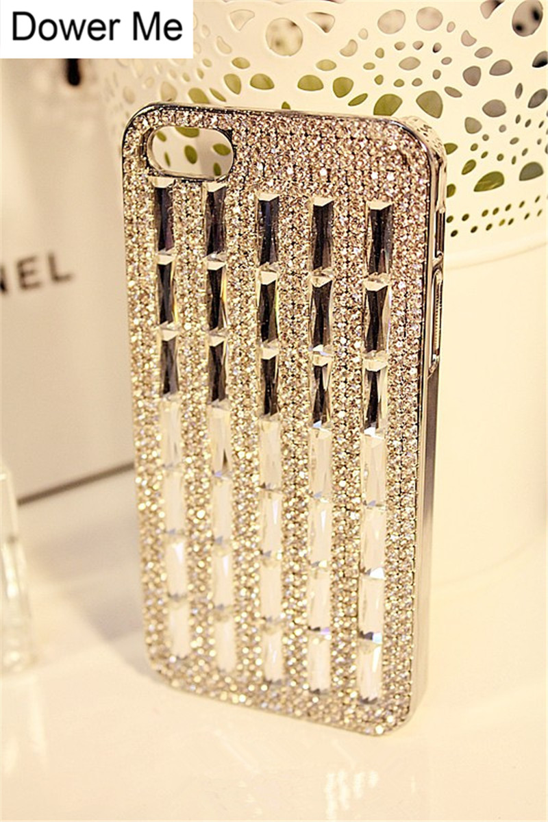 Dower Me Bling Rhinestone Diamond Crystal Case For iPhone X 8 7 6 6S Plus 5S Samsung Galaxy Note 8 5 4 3 S8 S7 S6 Edge Plus S5/4