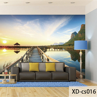 Custom 3D Print DIY Fabric Textile Wallcoverings For Walls Washable Matt Silk For Living Room Landscape
