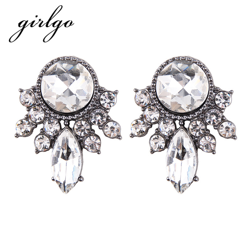 Girlgo font b Luxury b font font b Wedding b font Fashion Women Geometric Statement Charm