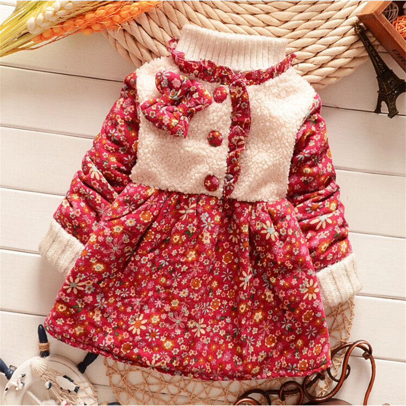 fcb0c731f3d54 High quality 2015 NEW Winter Kids Girls dress Warm velvet long sleeve dress  Baby girl clothes Children clothing 5 colors-in Dresses from Mother & Kids  on ...