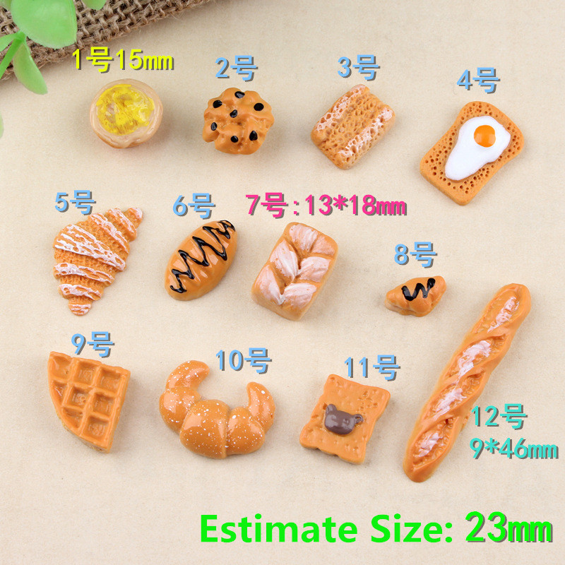 12PCS 1:6 1:12 Mini Bread Dessert Biscuits Donuts Simulation Dollhouse Blyth Miniature Re-ment BJD Doll Kitchen Food For Barbie