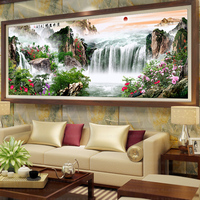 Mosaic Embroidery Crafts Diy 5d Diamond Painting Cross Stitch Unfinished Home Decor Landscape Painting Waterfall Full