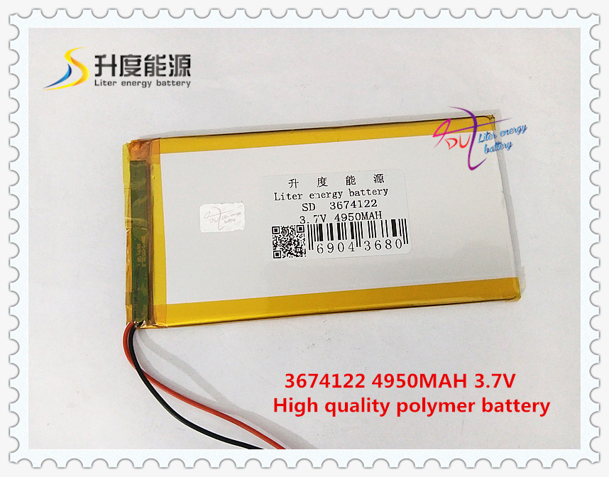 3674122 3,7 V 4950 Mah 3575120 Polymer Lithium-ion/li-ion Batterie Für Tablet Pc Power Bank Handy Lautsprecher Computer & Büro