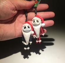ดิสนีย์ฝันร้ายก่อนวันคริสต์มาสแจ็ค 6cm รูปท่าทางอะนิเมะตกแต่ง Figurine ของเล่นสำหรับเด็ก