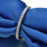 Slim 5A grade NSCD High quality Rings for women S925 Pure silver wedding rings for bride Luxurious jewelry