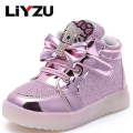Children's Shoes Flash Children's Shoes Boys And Girls Light Boots Kt Cat Leisure Sports Shoes Fashion Comfortable Non-slip 2017