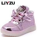 Niños shoes shoes niños y niñas botas de luz de flash niños kt gato ocio deportes shoes moda cómodo antideslizante 2017
