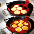 Nonstick Pancake Maker Silicone Egg Ring Mold Round Pancake Egg Tools Breasfast Maker Kitchen Cooking Gadgets