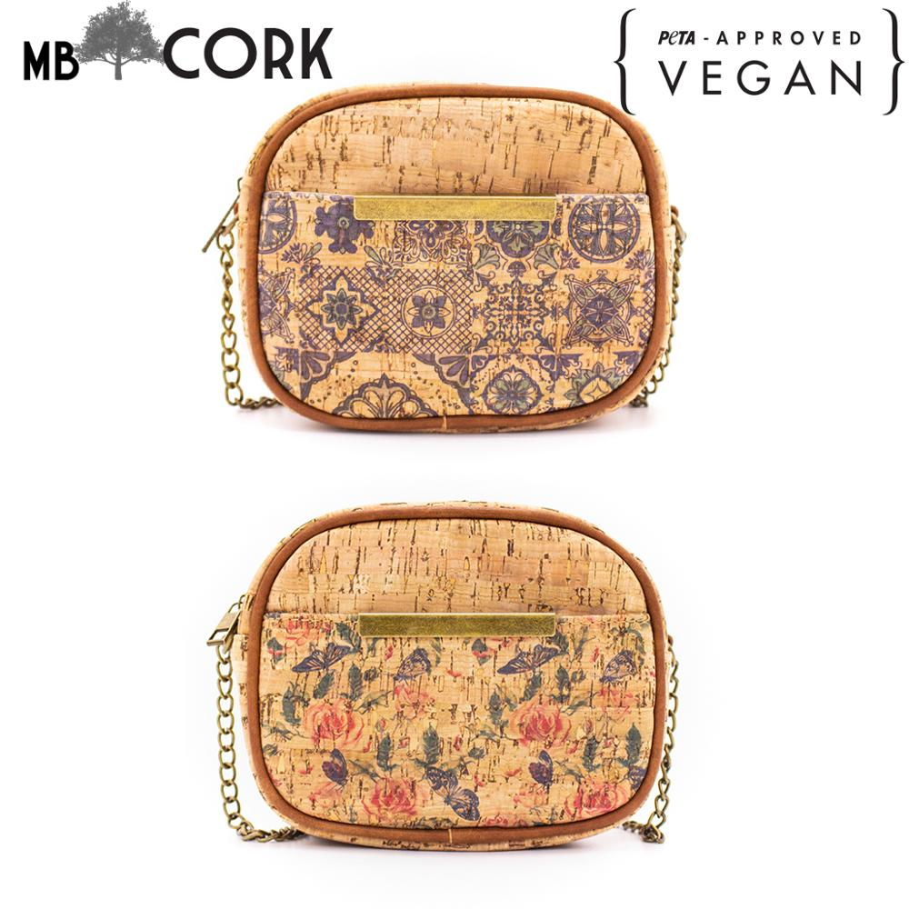 Tiles-Bag Cork-Crossbody Traditional-Portuguese-Pattern Natural Girl Women with BAGD-02/03