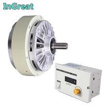 Одиночный вал магнитный порошковый тормоз 5 кг 50Nm DC 24V One w/3A ручной регулятор натяжения наборы для мешков печатная крашеная машина