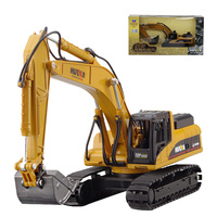HUI NA TOYS 1:40 Alloy Excavator Model Toy Navvy Construction Vehicle Hook Machine Car Models Toys For Children Gift