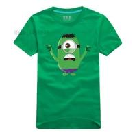 Minions Hulk camiseta 7 colores dibujos animados vengadores superhéroe hombres Camisas la camiseta del friki