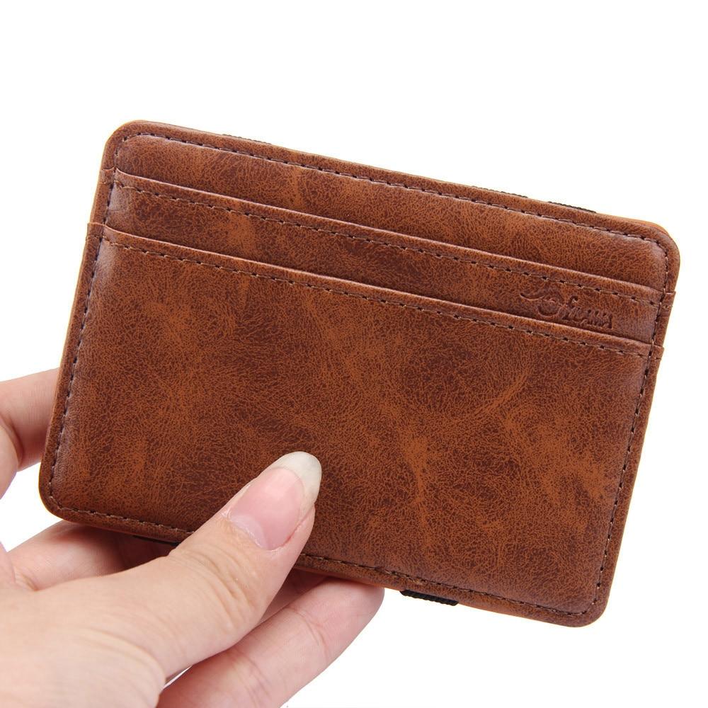 Mens Genuine Leather Wallet Bifold 2 Flap ID Cases Credit Card Holder Billfold